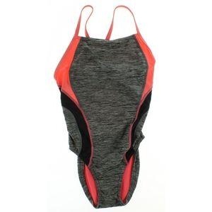 Speedo Heathered Relaunch Flyback 1-Piece Swimsuit